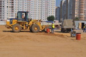 рбс устройство основания футбольного поля многофункциональный спортивный комплекс Локомотив (4)