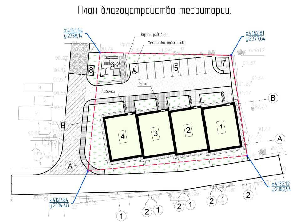 План благоустройства территории ЖСК Отрада Шевелюха 87